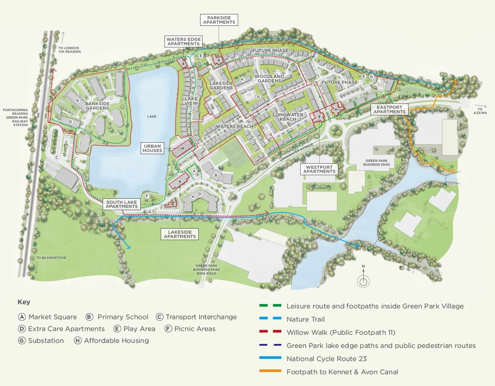 The site layout of Green Park Village near Reading which was the competition project this year.